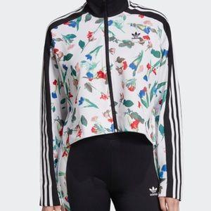 Adidas print track jacket